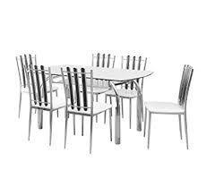 nilkamal chrysanta 6 seater dining table set walnut - ichr16ds