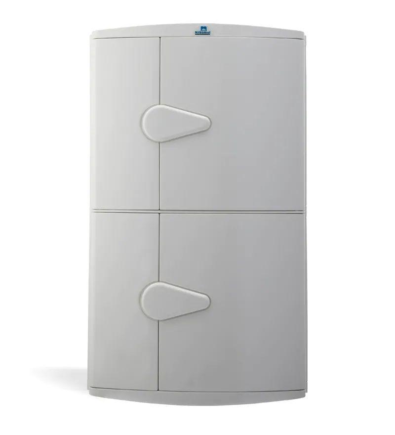 nilkamal corner cabinet 2 door - ivory
