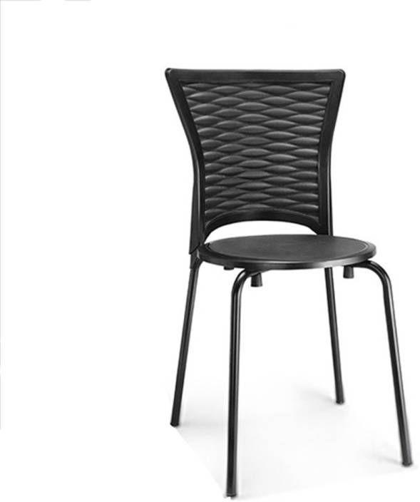 nilkamal novella chair mild steel legs - iron black - novella 14 (flocnovlaoaoc14ibk)