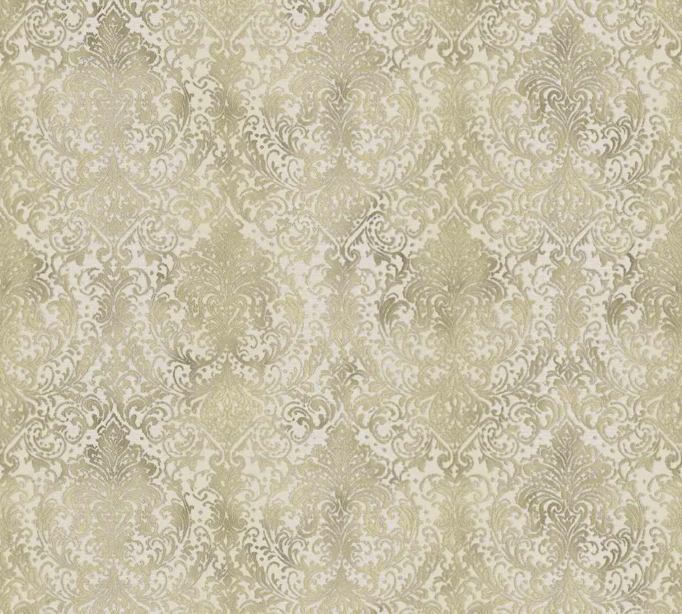 mystique classic damask wall paper beige metallic 959101