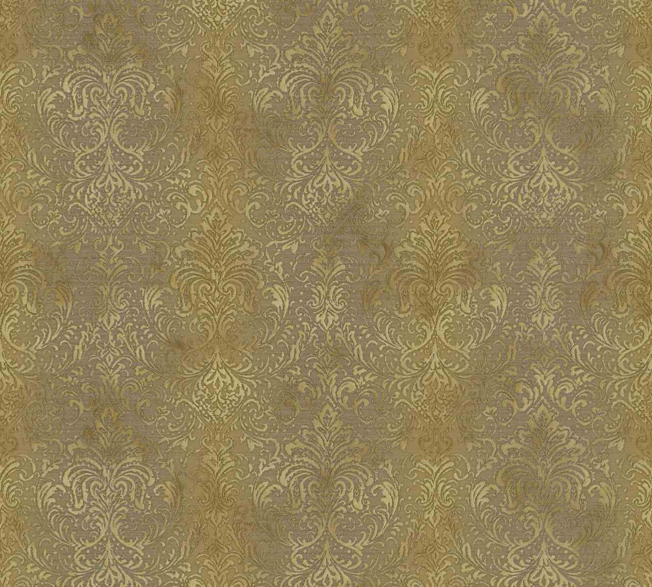 mystique classic damask wall paper brown metallic 959105
