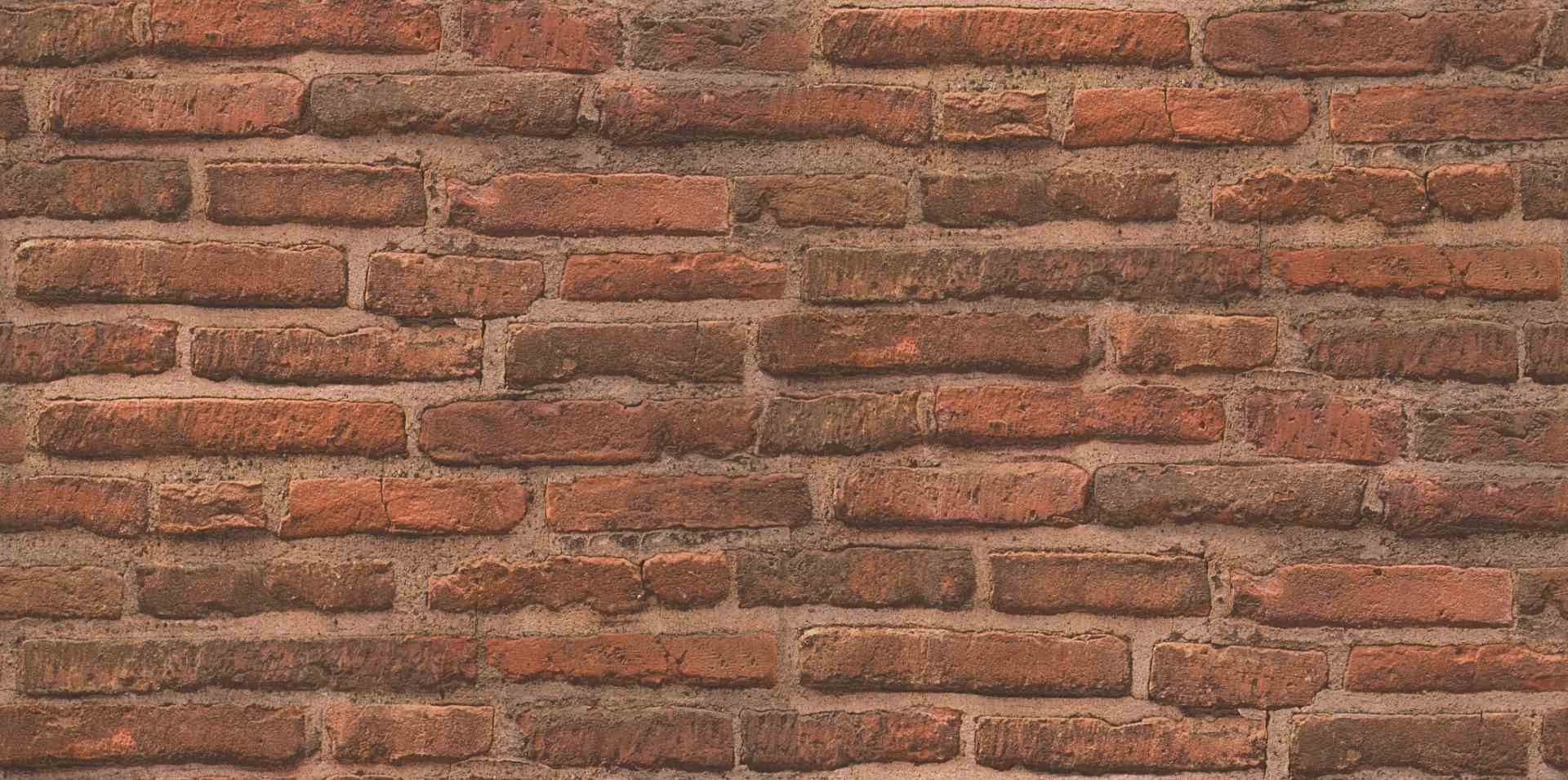 spirit of nature bricks stone wood wall paper beige orange brown 307471