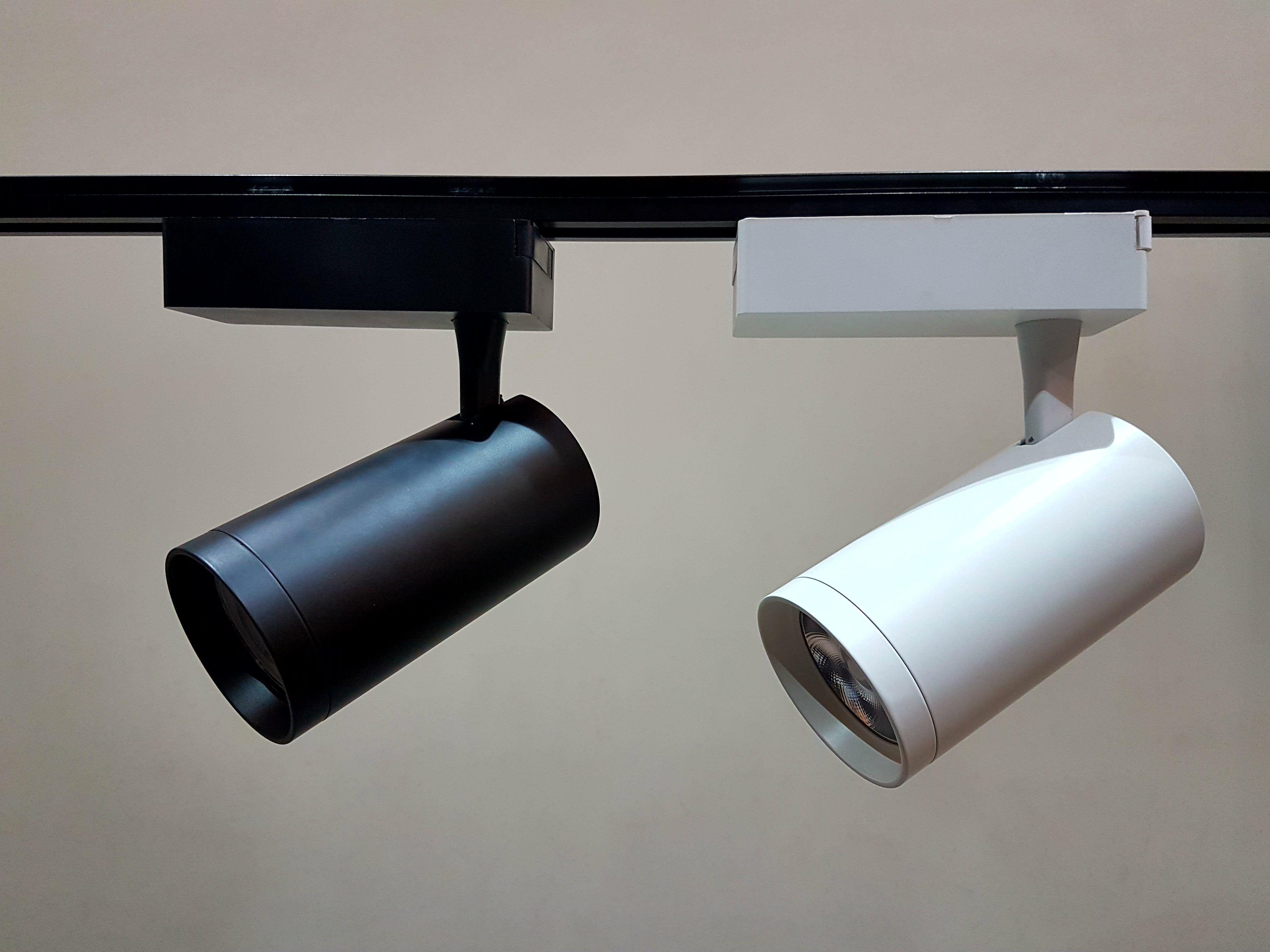 40w track light housing  black/white