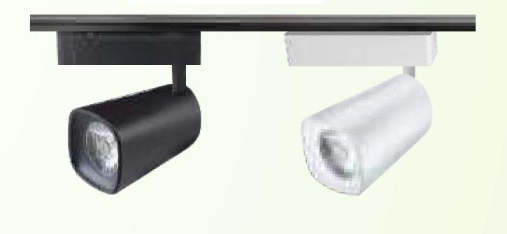 20w track light housing  black/white rhombus