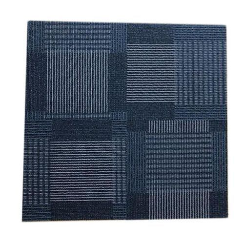 blue pp and nylon modular carpet tiles, size: 1.5x1.5 and 2x2