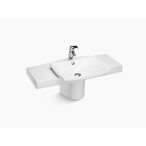 kohler pedestal basin escale k-19797w-00-white