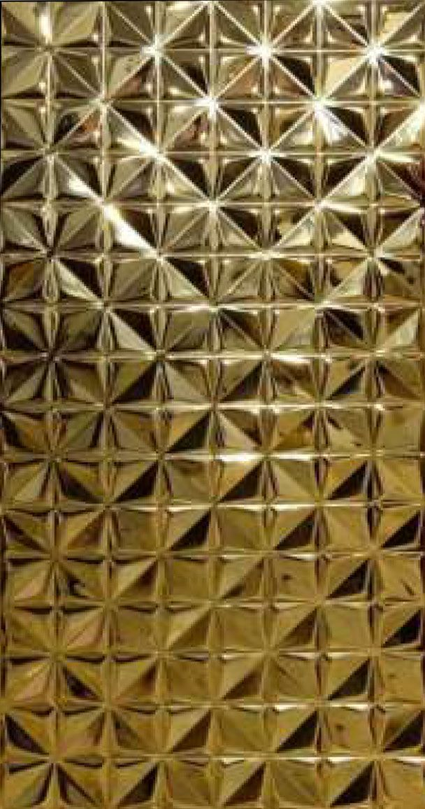 3d chrome mirror wall panel_gold